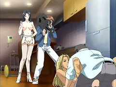 Seductive Anime mistress gets hard wang and gets licked