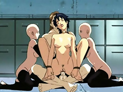 Cockhungry Call girl deals with horny Motoko till gets filled